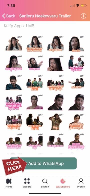 Add Telugu Sticker Pack to whatsaapp