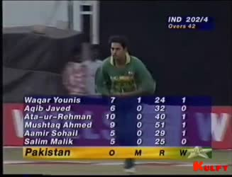 INDIA VS PAKISTAN - 1996 WORLD CUP - Kambli