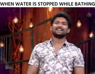 When water is stopped while bathing