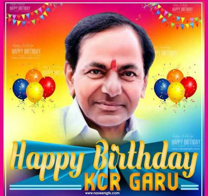Happy birthday KCR