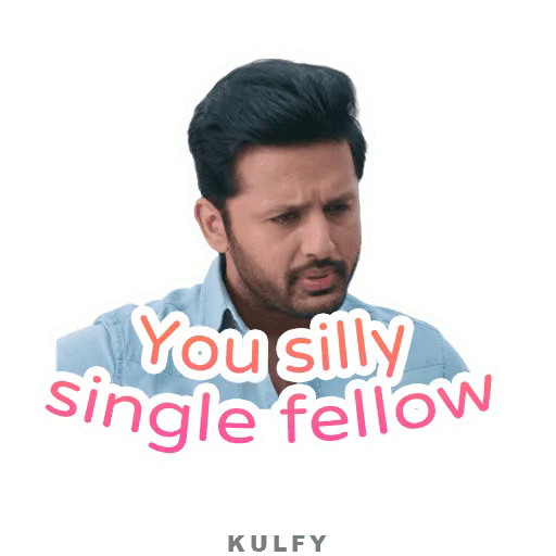 You Silly Single Fellow Sticker Nithin Bheeshma Kulfy