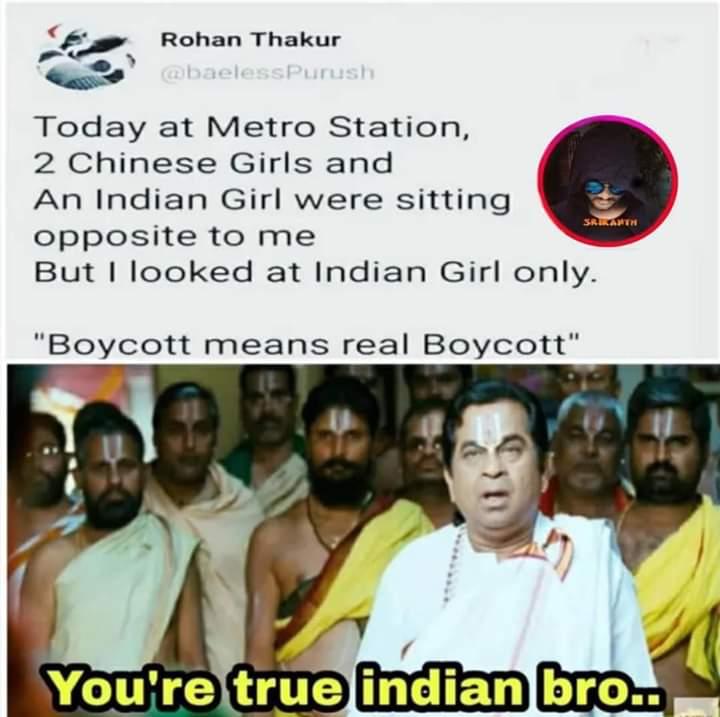 Boycott means real Boycott