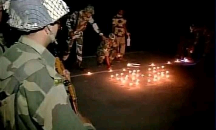 Indian Army Celebrates Diwali