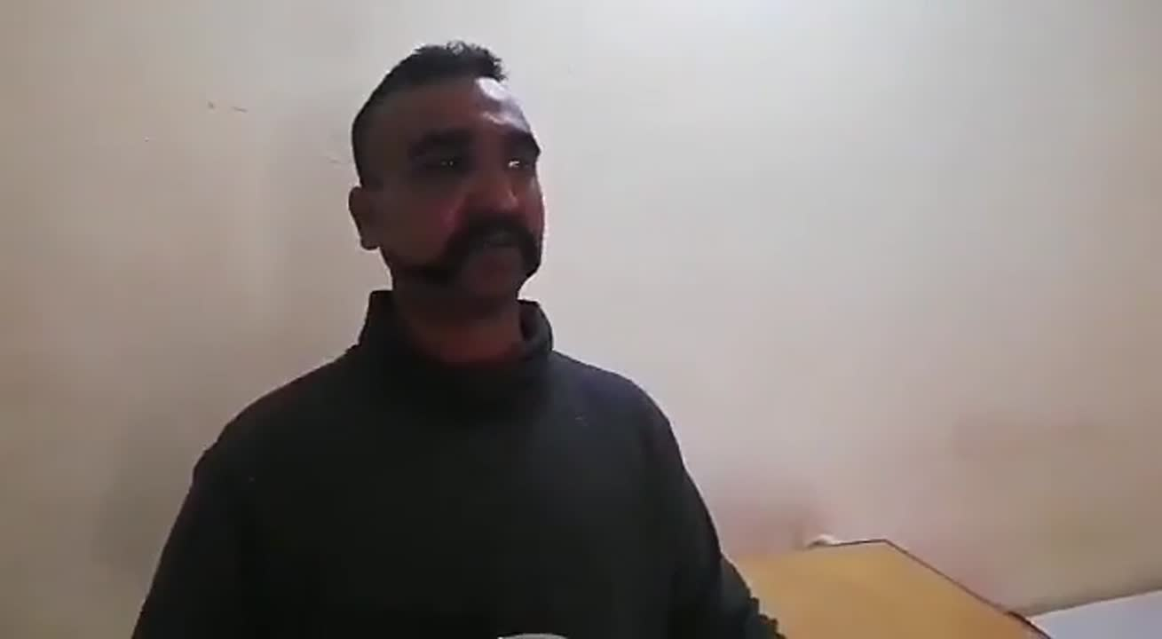 Abhinandan with Pakistan Army